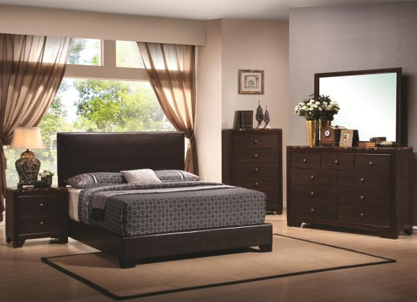 padded bed, leather bed, simple design, stylish bed