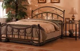 wrought iron bed, rope accents in bronze finish, headboard foot board and rails, closeout