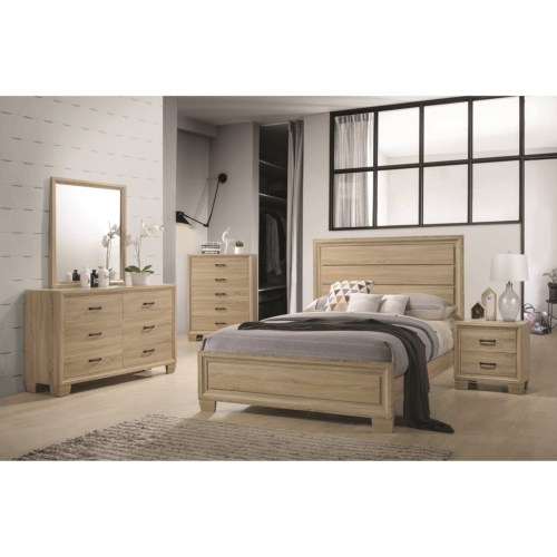 promotional bedroom set, low price, great value, simple design, natural white washed finish, dove tailed drawers