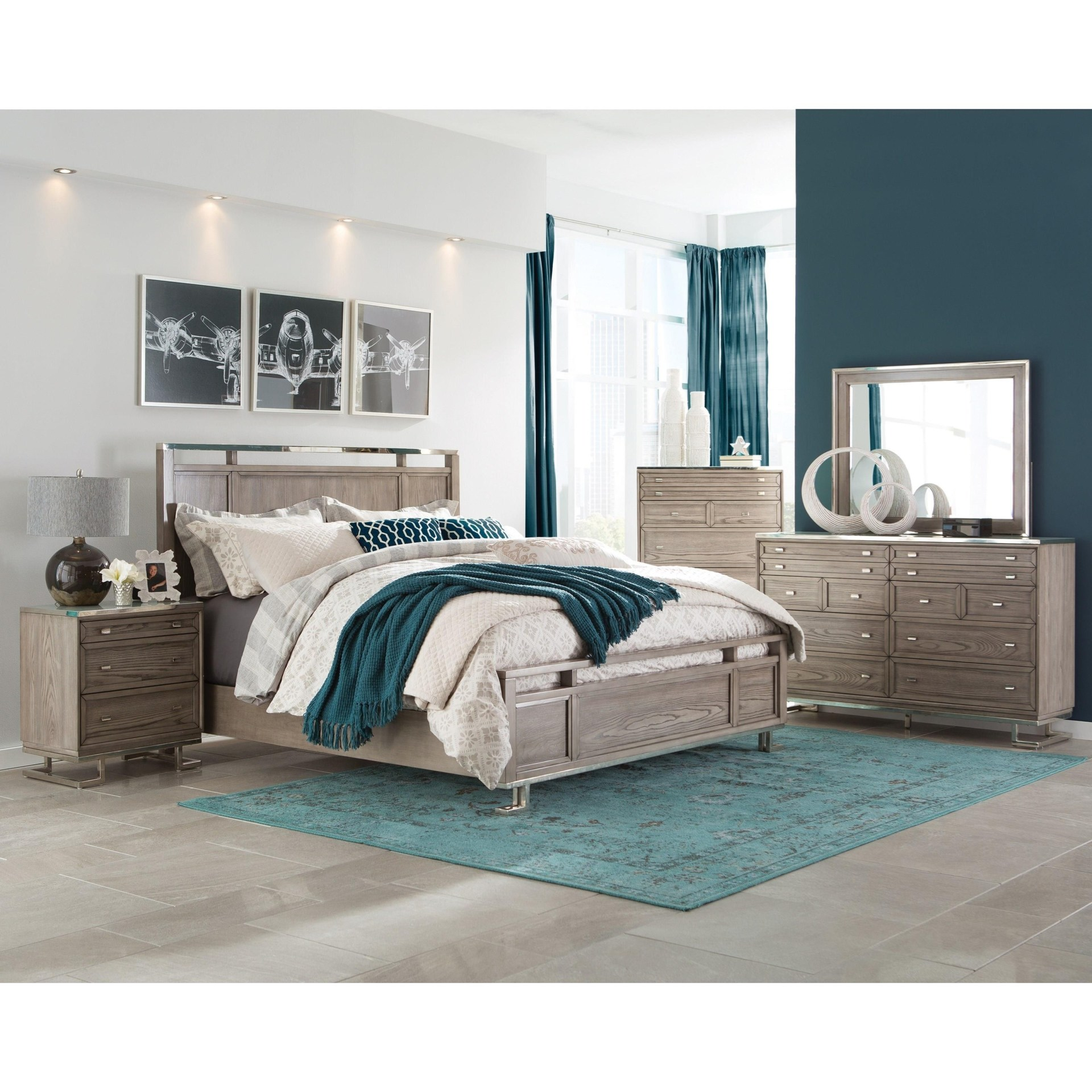 donny osmond home collection, closout bedroom, queen bed, chest of drawers, floor model special